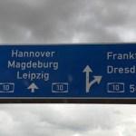 Auf dem Weg nach Leipzig