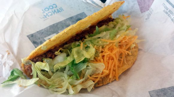 Crunchy Shell Taco bei Taco Bell