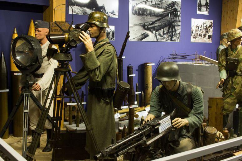 Deutscher Beobachtungsposten im Omaha Beach Museum