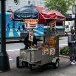 Hot Dog Cart in Manhatten, New York City