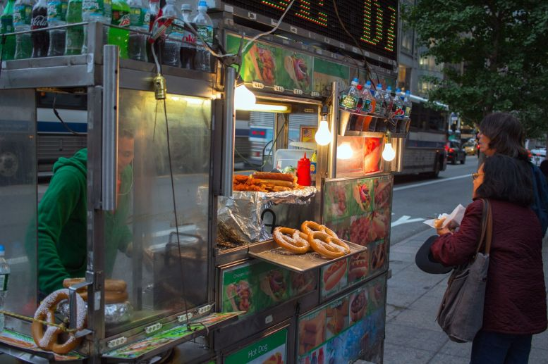 Typischer Food Stand New York