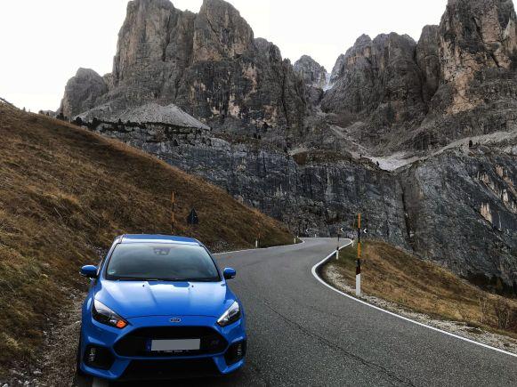 Ford Focus RS auf der Sella Rona