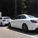 Mercedes-Benz A45 AMG und C63S an der Hahntenjochstraße