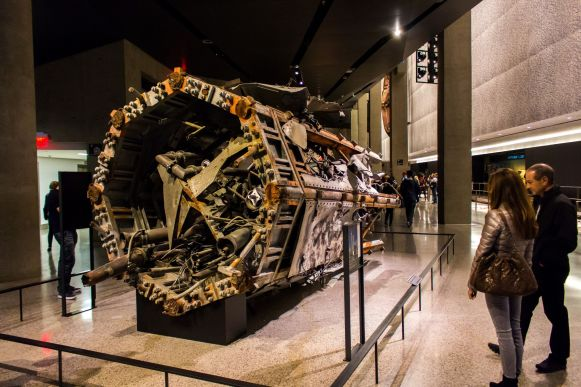 Aufzugsturbine Wolrd Trade Center 9 11 Museum New York City