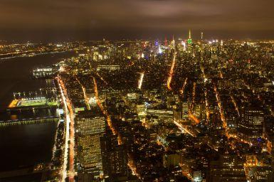 Hudson River und Downtown Manhatten vom One WTC