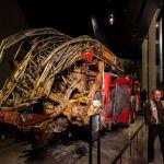 Zerstörte Feuerwehr 9 11 Musem New York City World Trader Center