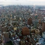 Panoramic View from the One World Observatory, WTC New York City, USA