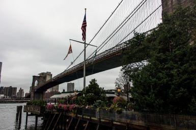 Brooklyn Bridge from underneath