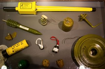 Different Types of Ammunition displayed at UN Headquarters New York City
