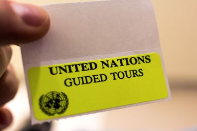 Guided Tour Neon Stickers United Nations