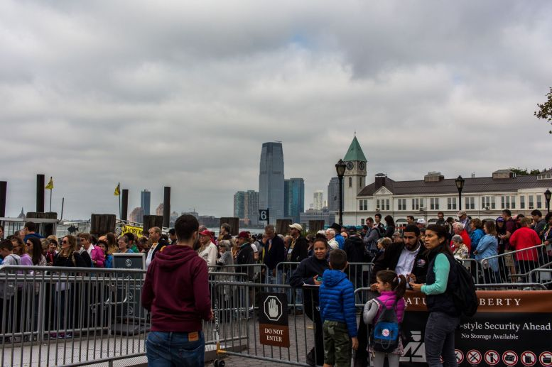 Secuity Check Queue Ellis Liberty Island Ferry