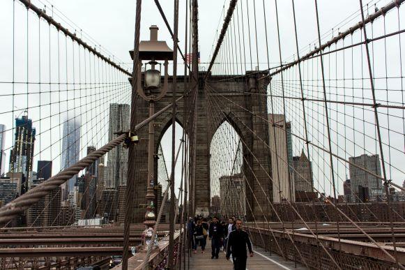 Walk over the Brooklyn Bridge