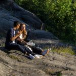 Couple Chilling in Central Park New York City