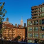 Empire State Building Seen From Highline, New York City