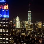 Empire State Building und One WTC vom Top of the Rock