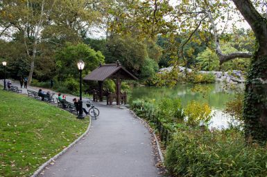 Lake in Central Park New York City