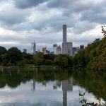 Skyline Reflection in Lake of Central Park New York City