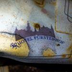 Alte Serviette mit Logo vom Hotel Fürstenhof, Eisenach