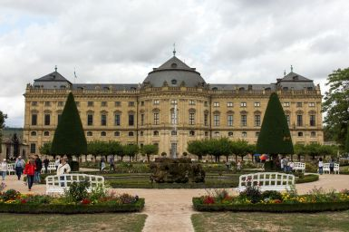 Im Würzburger Residenzgarten