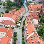 Dominsel vom Dom aus gesehen, Breslau