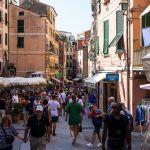 Menschenmassen in Vernazza, Cinque Terre