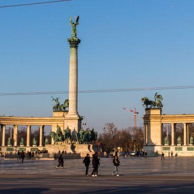 Heldenplatz, Budapest, Ungarn