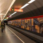 U-Bahn Haltestelle Kijárat, Budapest, Ungarn