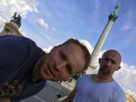 GETCHARLIE.de am Heldenplatz in Budapest