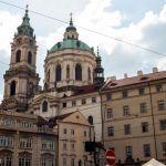 St.-Nikolaus-Kirche vom Malostranské náměstí aus, Prag