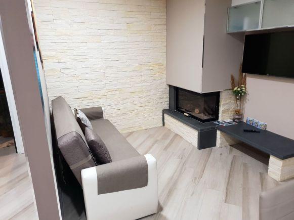 AirBnB-Apartment in Tramonti, Wohnzimmer