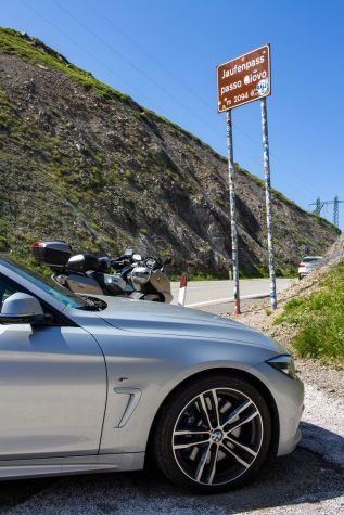 BMW 440i am Jaufenpass