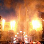 Flammenmeer bei Rammsteinkonzert