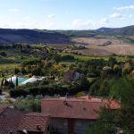 Hügel in der Toskana bei Montepulciano, Italien