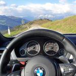 BMW 440i am Jaufenpass Richtung Sterzing