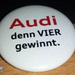 Audi VIER gewinnt Button