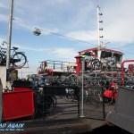 Amsterdam schwimmendes Fahrradparkhaus