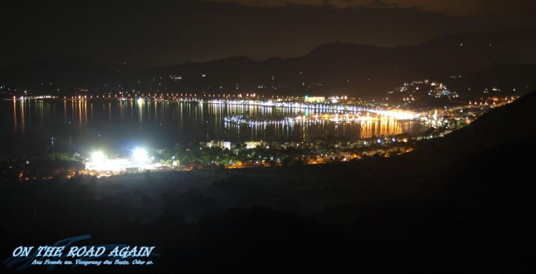 Bucht von Port de Pollenca bei Nacht