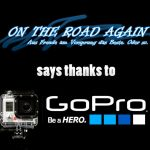 OnTheRoadAgain says thanks to GoPro