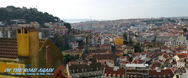 Panorama Ausblick vom Miradouro Sophia de Mello in Lissabon