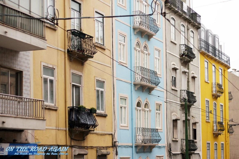 Bunte Fassaden in Lissabon