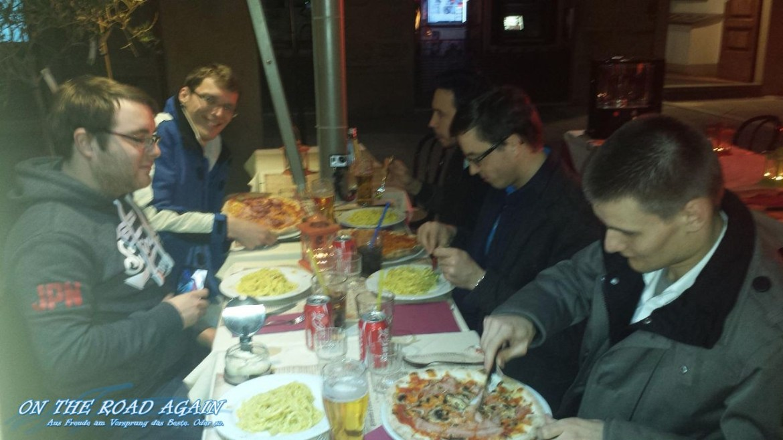 Abendessen Florenz, Tag 1 Easter Rallye 2015