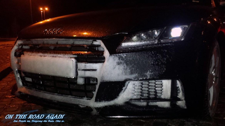 Audi TT verschneit