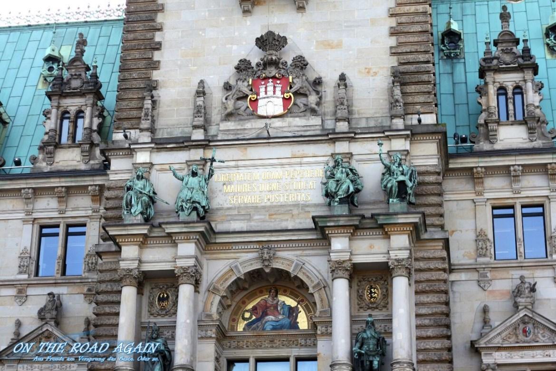 Inschrift Hamburger Rathaus