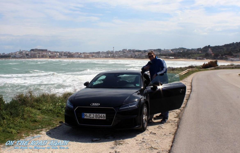 Robert mit Audi TT in Apulien