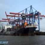 CMA CGM Jade im Hamburger Hafen