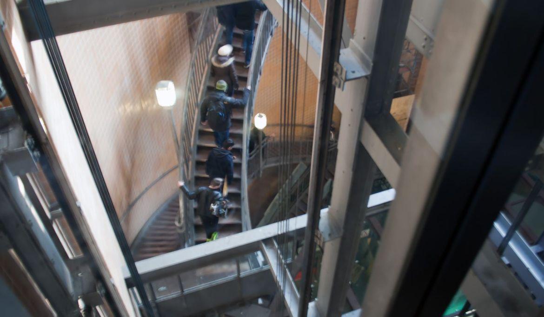Treppe alter Elbtunnel Hamburg