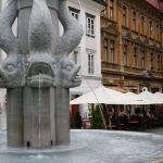Springbrunnen Ljubljana