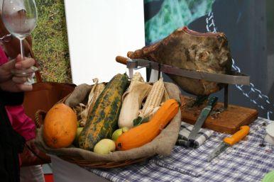 Getrüffelter Schinken auf den Zigante Truffel Days in Livade