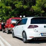 Golf R in der Schlange für die Autofähre nach Hvar