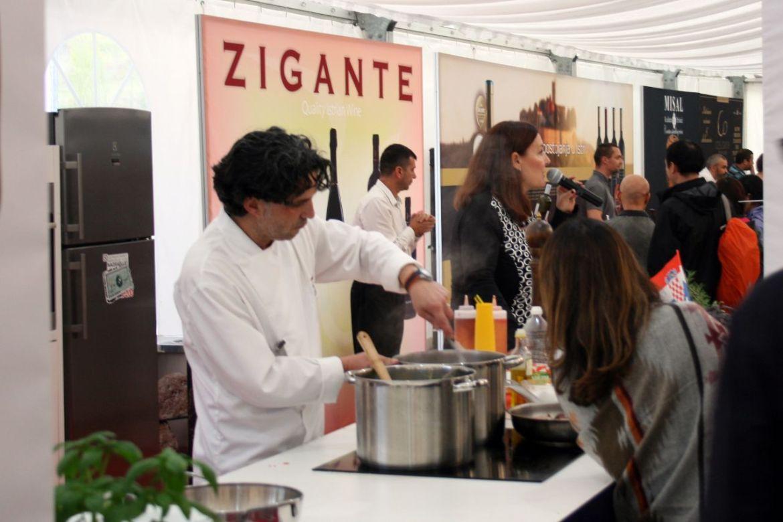 Show Cooking auf der International Gourmet Expo in Livade